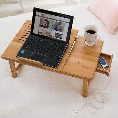 Table de lit pliable pour PC portable notebook tablet bambou + USB ventilateur 3