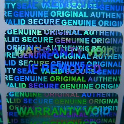 """250 Security Labels Seal Blue Hologram Tamper Evident 1.5/"""" x 0.6/"""" Stickers xbox"""