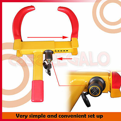 Wheel Lock Clamp Heavy Duty Anti-theft For Vehicle Car Trailer with 2 Keys 4