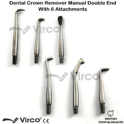 Morrel Crown Remover With 6 Attachments Dental Stainless Steel Instrument Ce 3
