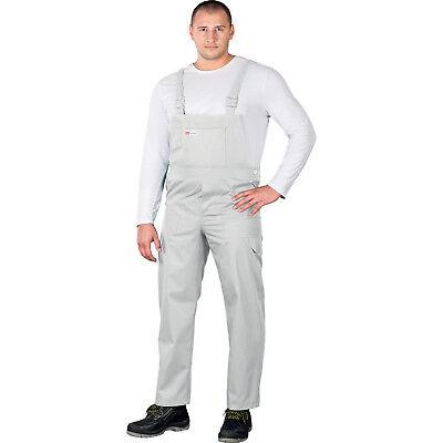 Arbeitslatzhose Malerhose Arbeitskleidung Weiß Latzhose Blaumann Herren Gr.48-62
