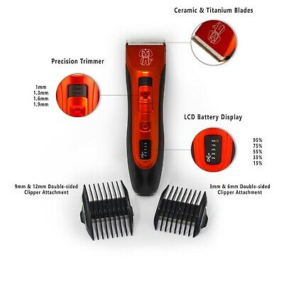 Cordless Dog Clipper Pet Grooming Kit Electric Trimmer Set for Animal Hair Cat 6