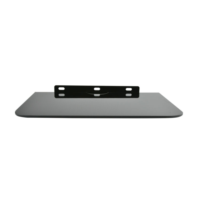 1 Tier Black Glass Floating Wall Mount Shelf DVD Player Box PS4 Game Console 7