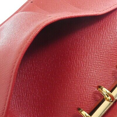 Auth LOUIS VUITTON Epi Agenda PM Day Planner Cover Red Leather R2005E #f41439 10