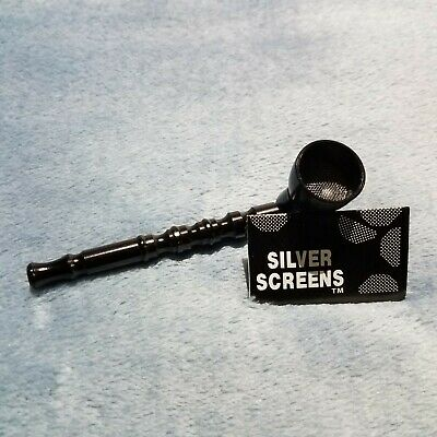 NEW Small Black Bamboo Smoking Pipe Tobacco Herb Portable Metal Pocket Size 5