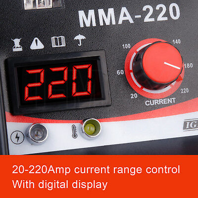 ARC 220Amp Stick Welder DC Inverter MMA Welding Machine IGBT Portable 10A Plug 4
