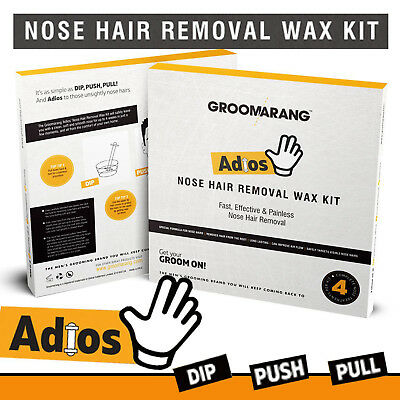Groomarang Adios Nez Oreille Épilation Cire Kit Indolore & Facile Homme Nasal 6