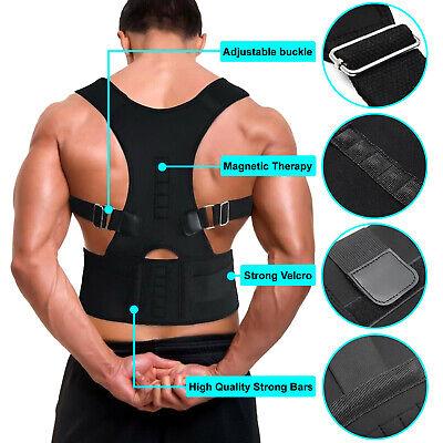 Posture Corrector Support Men Women Magnetic Back Shoulder Brace Belt Adjustable 9