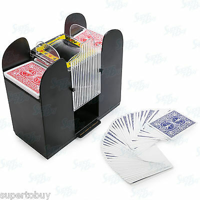 Casino 6 Deck Automatic Playing Card Shuffler Holdem Poker (Cards not included) 4