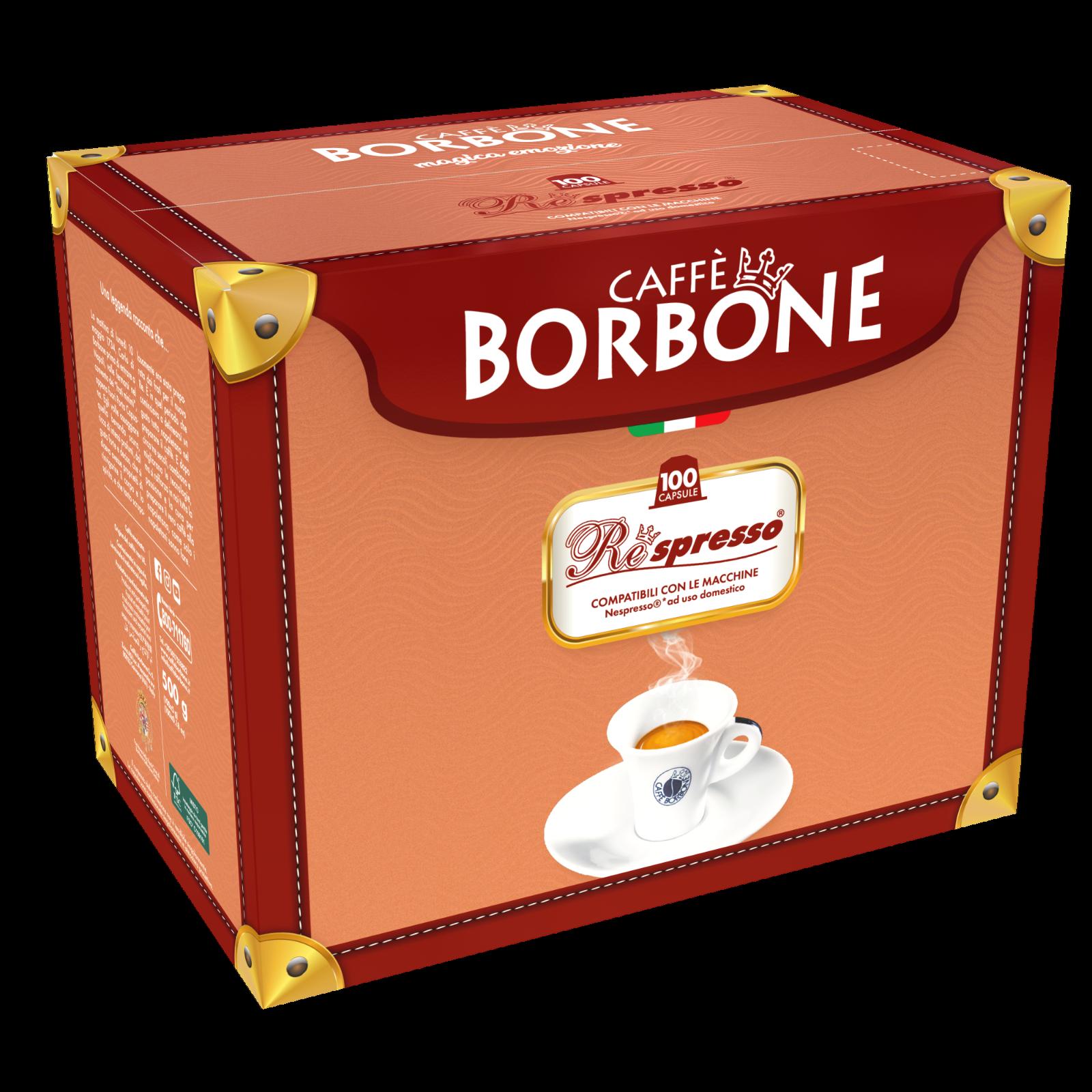 100 Capsule Cialde Caffè Caffe Borbone Respresso Nera Nero compatibili Nespresso 2