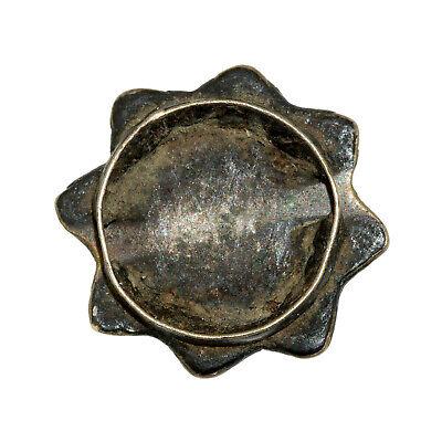 (2552) Antique Tibetan turquoises set in silver 2