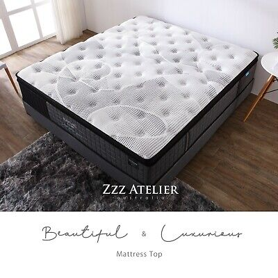 Queen Double King Single Mattress Bed Euro top Pocket Spring Latex Chiropractic 8