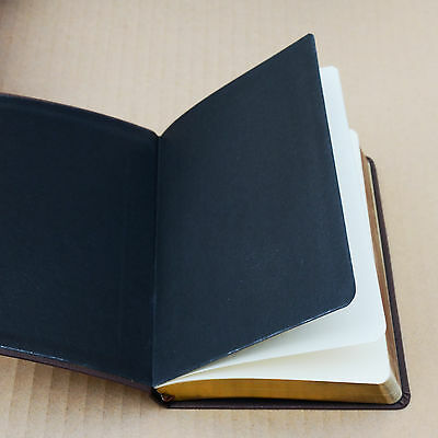 Top Quality Blank Diaries Journals Notebook Note Book Vintage PU Leather Cover 6