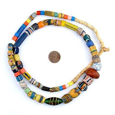 Premium Glass Mixed Trade Beads 14mm Ghana African Multicolor Large Hole 3