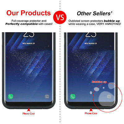 NUGLAS Samsung S10 S9 S8 Plus Note 9 Tempered Glass Full Cover Screen Protector 6