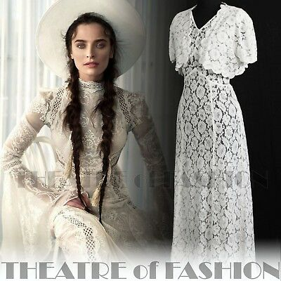 DRESS 30s WEDDING LACE JACKET 20s VINTAGE 40s GATSBY DECO CROCHET GODDESS ICON 11