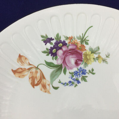 Vintage German Large Porcelain Platter Floral with Gold Rim Democratic Republic 3