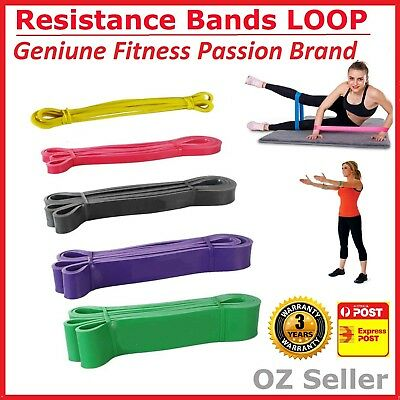 Set Of 5 Heavy Duty Resistance Band Loop Power Gym Fitness Exercise Yoga Workout 3