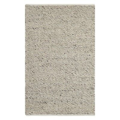 Small - Large Thick Light Grey Pebbles Bobbles Bobbly 100% Wool 3D Rug Clearance 5