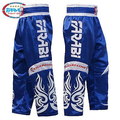 FARABI KICK BOXING Trousers Pants Kids Training K1 Taekwondo Satin Silk Top  Pro