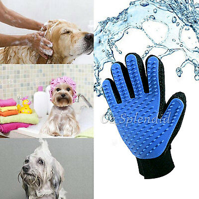 Pet Dog Cat Massage Hair Removal Grooming Comb Touch Cleaning Brush Magic Glove 2