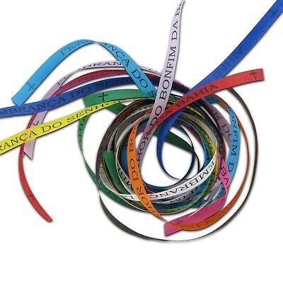 Original Bonfim Bänder, verschiedene Farben und Mengen. Brasilien Glücksbringer