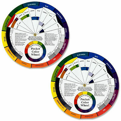 Set Of 2 Pocket Colour Wheel Tool Mixing Paint Learning Artist Kids Guide 10