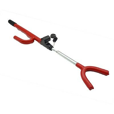 Steering Wheel Lock Double Hook Extendable Car Van Steel Security Anti Theft 4
