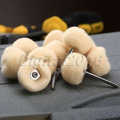 10pcs 25mm Polishing Buffing Wool Wheel For Dremel Grinder Rotary Tool (69) 3