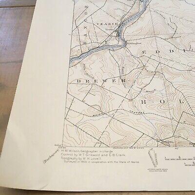 Vintage Original 1936 Maine Penobscot County Orono ME USGS Quadrangle Map 4
