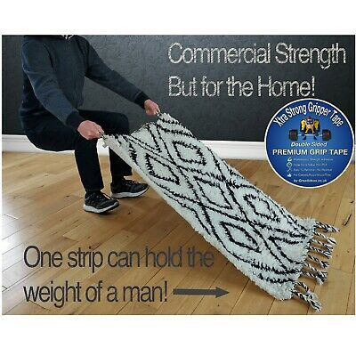 Strong Double Sided Tape Bonding Adhesive Carpet Rug Gripper Mounting Heavy Duty 3