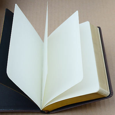 Top Quality Blank Diaries Journals Notebook Note Book Vintage PU Leather Cover 7