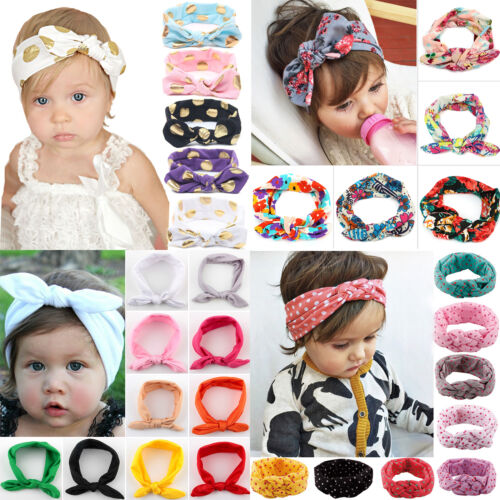 Newborn Infant Headband Ribbon Elastic Baby Headdress Kids Girl Bow Hair Band 4