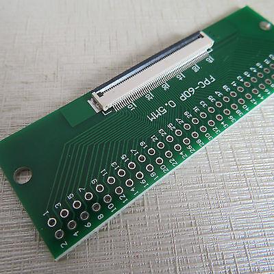 2x 40p Adapterplatine FFC-2.54 FPC pitch 0.5//1mm mit 1mm Adpter Displaykabel pcb