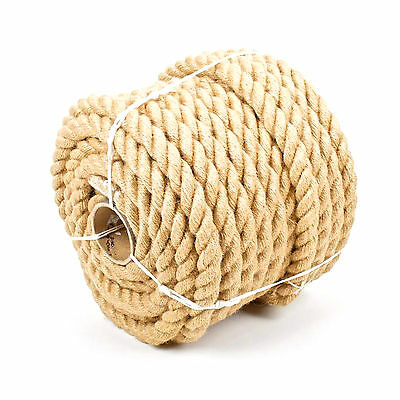 Natural Jute Rope Twisted Braided Decking Garden Boating Sash 6-60mm up to 500m 4