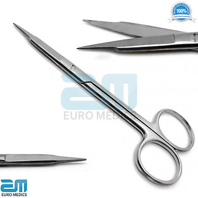 set of 5 Dental Goldman Fox Iris Scissors Double Straight and Double Curved Tool 2