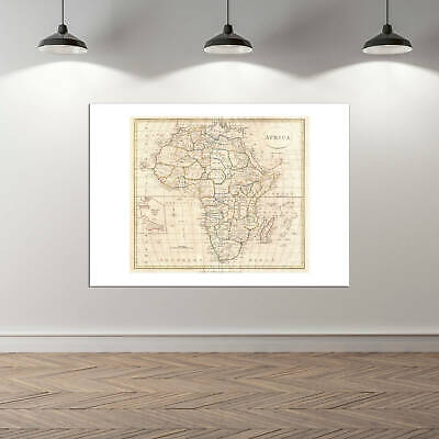 Africa Map Clement Cruttwell 1799 Wall Art Poster Print 3