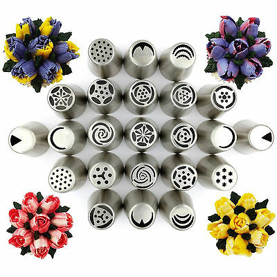 Russian Tulip Flower Xmas Cake Icing Piping Nozzles Decorating Tips Baking Tools