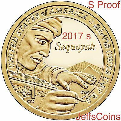 2016 & 2017 S SACAGAWEA NATIVE AMERICAN Code Talkers + Sequoyah Proof Dollars 2