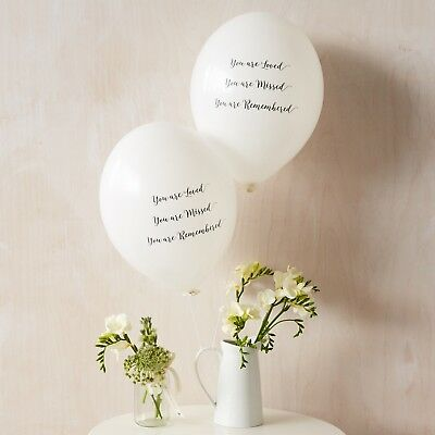 Angel & Dove 25 White 'You Are Loved' Biodegradable Latex Funeral Balloons 2