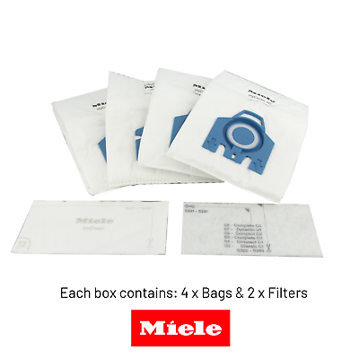 MIELE Vacuum Bags GN Hyclean 3D Efficiency x 4 Boxes - GENUINE 2