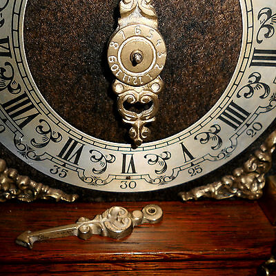 BIG Vintage Wall Clock DUTCH ZAANSE ZAANDAM stoelklok for REPAIR parts missing 5
