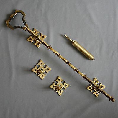 Victorian Inspired Brass Lichfield Bell Pull 2