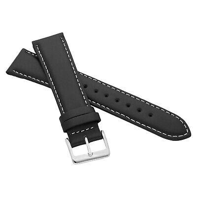 MARCHEL Lederarmband LLB Premium Glatt Silber Gold Schließe Uhrenarmband Uhr 11