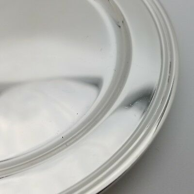 Tiffany & Co. Makers Sterling Silver ~5.5 In Cookie Saucer Bread Charger Plate 7