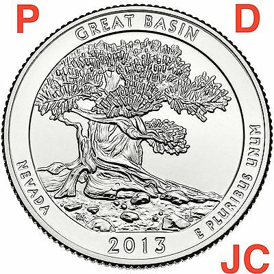 2013 P&D Great Basin Nevada STATE NATIONAL PARK QUARTER BU MS PD MINT 2ATB COINS 2