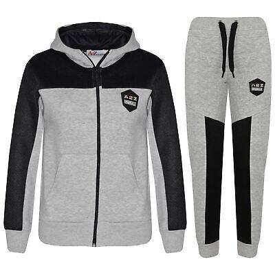 Kids Tracksuit Designer's Girls Boys Zipped Top & Bottom Jogging Suit 7-13 Years 2