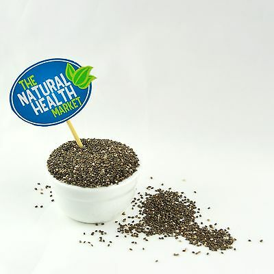Chia Seeds 500g • Raw Whole Natural Dark • Omega 3 • Colon Cleanse Diet Detox 2