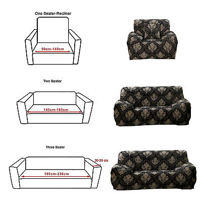 1/2/3 Seater Elastic Sofa Covers Slipcover Settee Stretch Floral Couch Protector 2