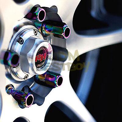 Purple 20 PCS M12X1.5mm Lug Nuts Extended Tuner Aluminum Wheels Rims Cap WN02 5